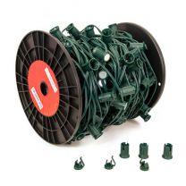 "LITE-NETICS C9 Cord Green Wire - 12"" Spacing - SPT-1 - 500'"