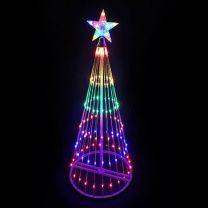 4' LED Light Show Tree-Multi