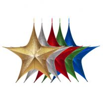 """Foldable 3D Star - 44"""" - Metallic - 5 Colors Available"""