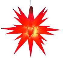 moravian star tree topper red