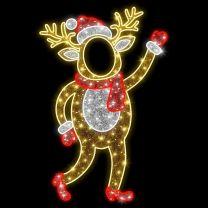 6' 2D LED Mama Deer - Photo Op Display