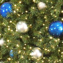 Tree Ornament Package - Blue and Silver - Small Ornaments