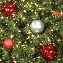 Tree Ornament Package - Red and Silver - Large Ornaments