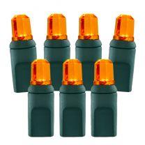 70 Light Amber/Orange Pentagon Gem LED Christmas Lights