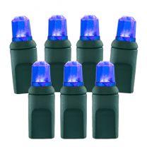 70 Light Blue Pentagon Gem LED Christmas Lights