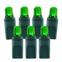 70 Light Green Pentagon Gem LED Christmas Lights