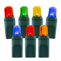 70 Light Multi Pentagon Gem LED Christmas Lights