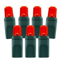 70 Light Red Pentagon Gem LED Christmas Lights