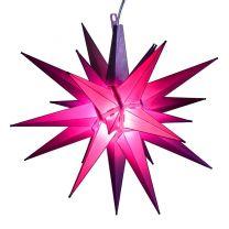 purple moravian star tree topper