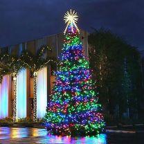 36' RGB Animated Majestic Mountain Pine Christmas Tree