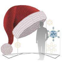 9' 3D Giant Santa Hat