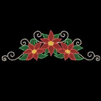 """Poinsettia Spray Sign Topper 10' W x 4' 3"""" T, 351 Bulbs, LED"""