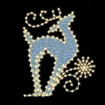 "Regal Reindeer 6' 6"" W x 8' T, 261 Bulbs, LED"