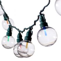 """Specialty Lights - G50 - 25 ct, 8"""" Spacing - Multi - Green Wire - LED"""