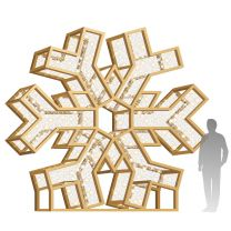 12' LED Snowflake Icon - Radiant - Warm White