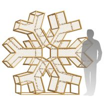 8' LED Snowflake Icon - Radiant - Warm White