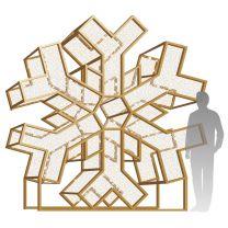 10' LED Icon Snowflake Display - Warm White