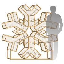 6' LED Snowflake Icon - Warm White
