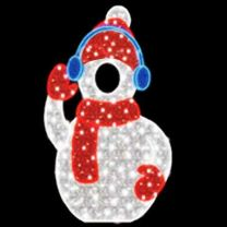 5.25' 2D LED Snowman - Photo Op Display