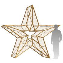 10' 3D LED Star Icon - Warm White