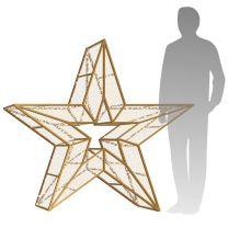 4' 3D LED Star Icon - Warm White