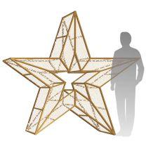 7' 3D LED Star Icon - Warm White