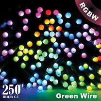 """Twinkly Pro - RGBW Capsule - 250 Lights - 4"""" Spacing - Green Wire - Dual Line"""