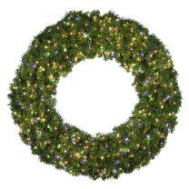 "60"" Lit Multi Deluxe Oregon Fir Wreath - Bow Option Available"
