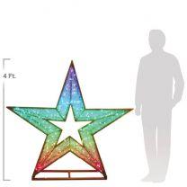 4' 3D LED Star - Twinkly Pro RGB Lights