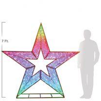 7' 3D Star - Twinkly Pro RGB Lights
