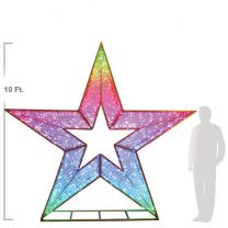 10' 3D Star - Twinkly Pro RGB Lights