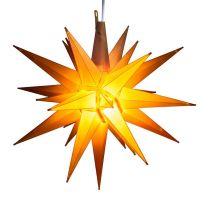 yellow moravian star tree topper