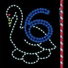 7' Six Geese Laying, LED