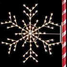 5 1/2' Silhouette Arctic Snowflake, LED