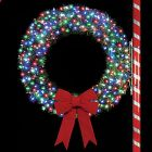 4' Rocky Mountain Pine Wreath with C6, LED