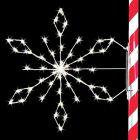 5' Silhouette Crystal Snowflake, LED