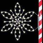 5' Silhouette Fantasy Snowflake, LED
