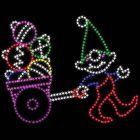 9' Elf Pulling Ornaments, LED