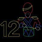11' x 13' Twelve Drummers Drumming, LED