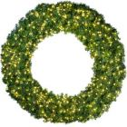 """144"""" Deluxe Oregon Fir Wreath - Lit with Warm White LEDs"""