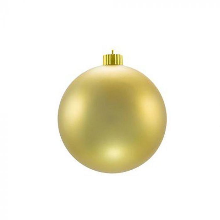 Matte Christmas Ornaments Gold