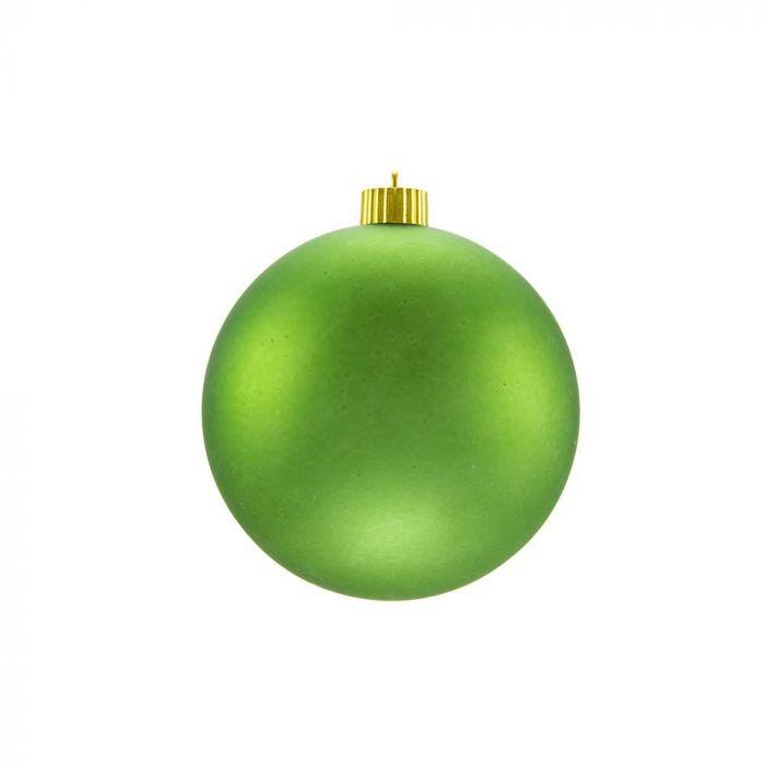 Matte Christmas Ornaments Lime Green