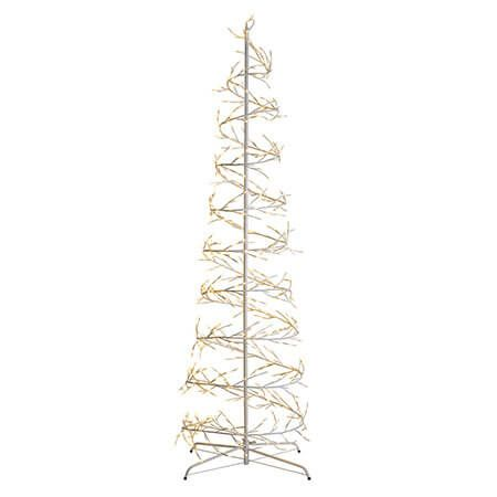 white spiral christmas tree