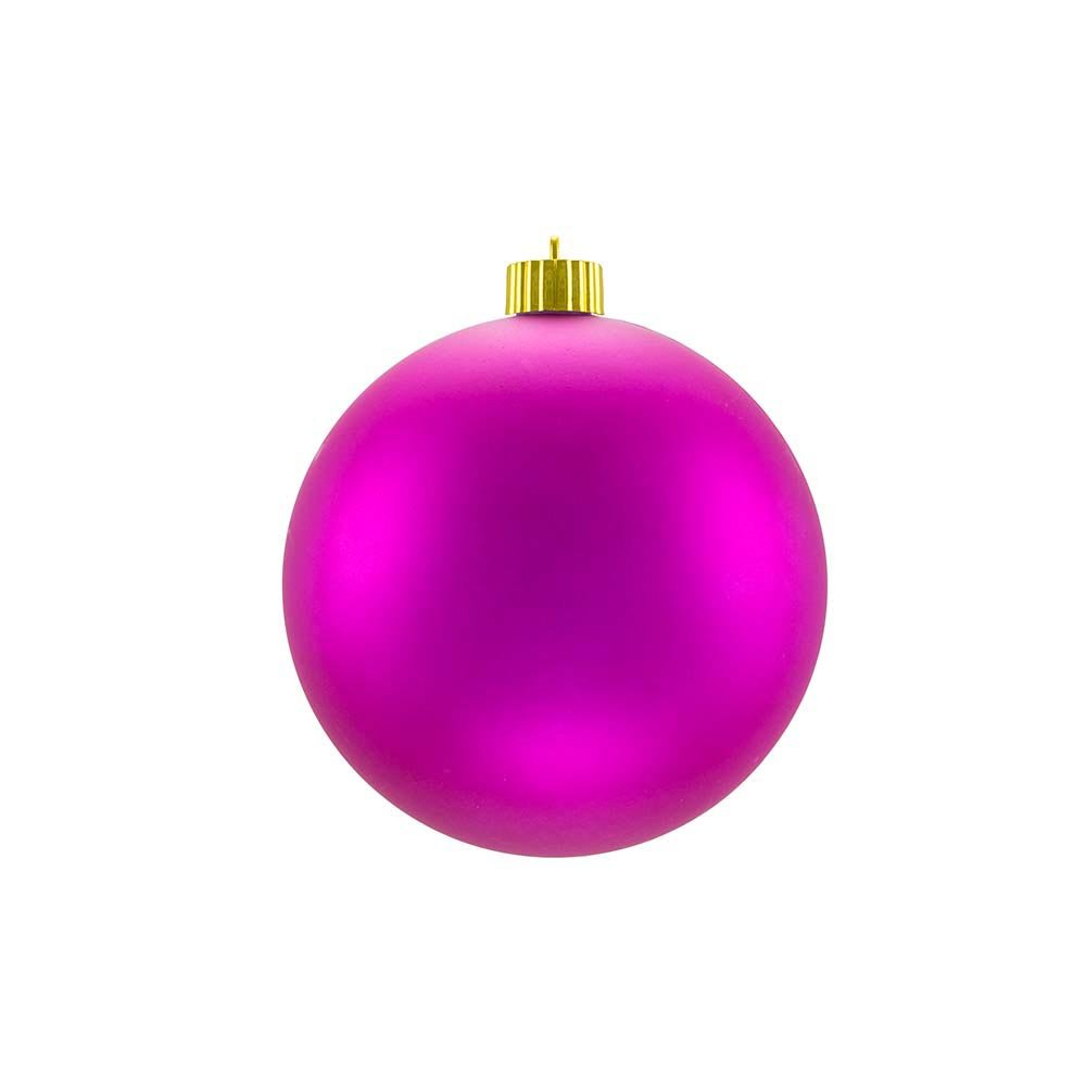 Matte Christmas Ornaments Fuchsia