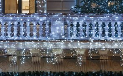 Christmas Lights and Decorations for Apartment, Townhome, or Condo Balconies