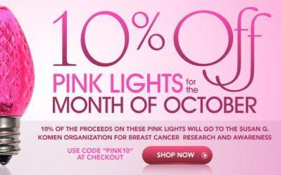 Light It Up Pink for Breast Cancer Awareness