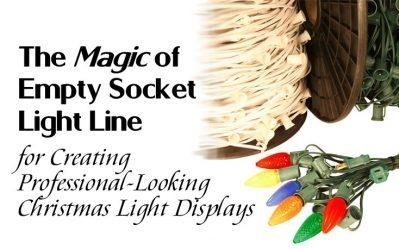 The Magic of Empty Socket Light Line for Creating Professional-Looking Christmas Light Displays