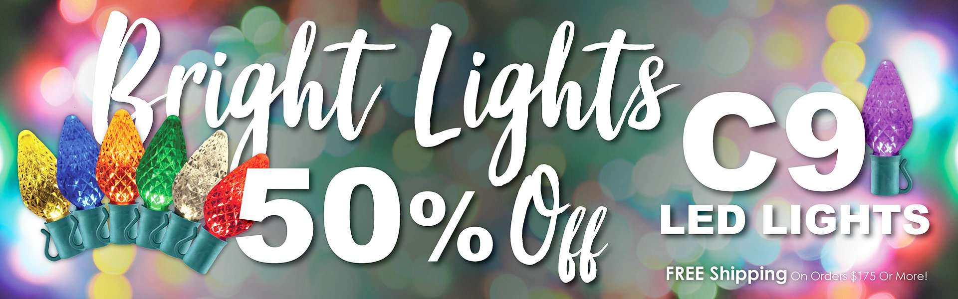 50% Off Sale on C9 LED Light Sets