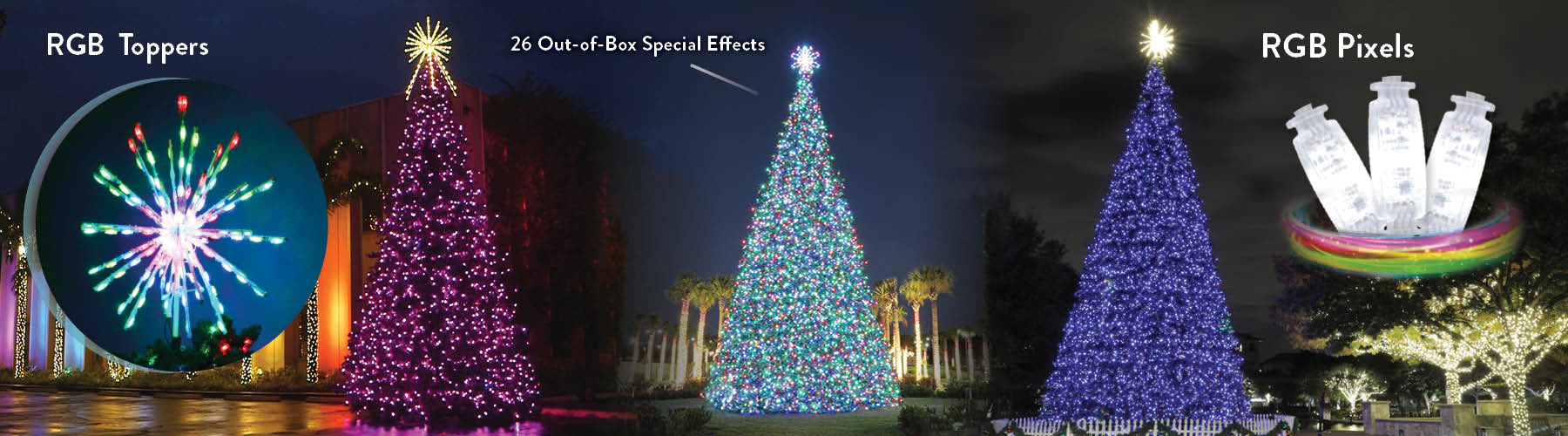 Commercial RGB Christmas Trees