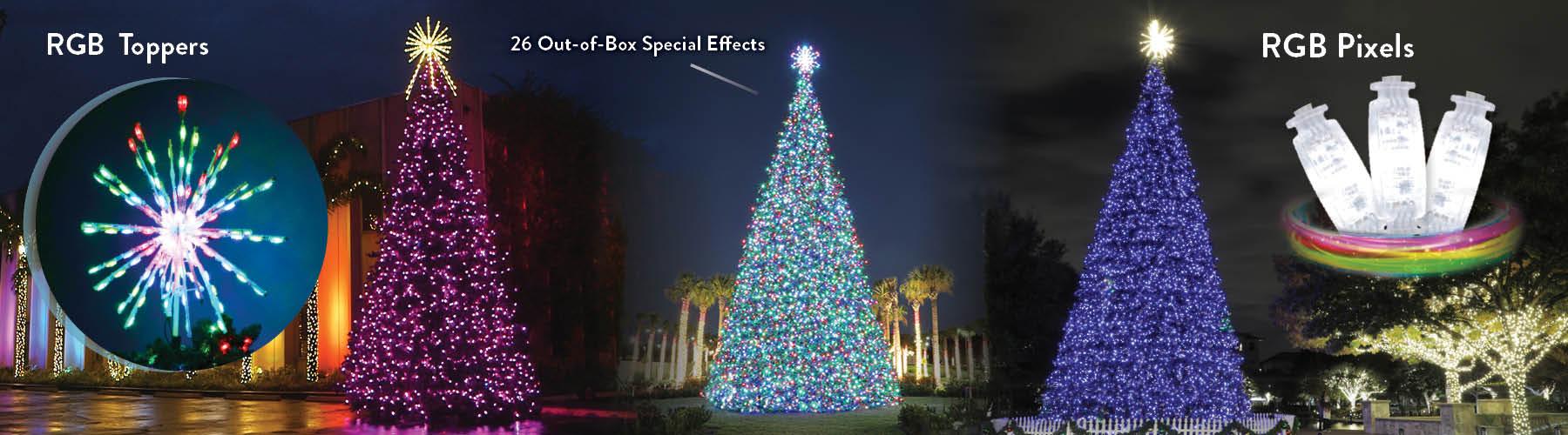 Commercial RGB Christmas Trees